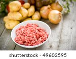 grinded meat - stock photo