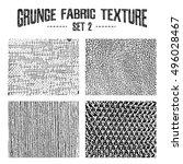 grunge fabric textures set 2.... | Shutterstock .eps vector #496028467