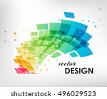 colorful abstract geometric... | Shutterstock .eps vector #496029523