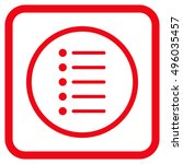 items red vector icon. image...