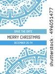 vector happy new year or merry...   Shutterstock .eps vector #496051477