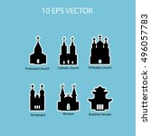 vector set illustration of... | Shutterstock .eps vector #496057783