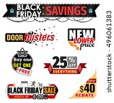 black friday sale banner... | Shutterstock .eps vector #496061383