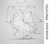 big data visualization concept .... | Shutterstock .eps vector #496074703