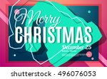 merry christmas party bright... | Shutterstock .eps vector #496076053