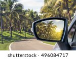 side rear view mirror on a car. | Shutterstock . vector #496084717