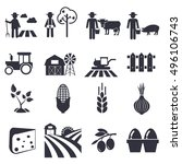 agriculture icons  farming set... | Shutterstock .eps vector #496106743