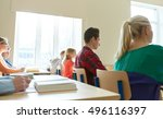education  learning and people... | Shutterstock . vector #496116397
