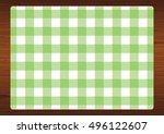 green   white gingham check...   Shutterstock .eps vector #496122607