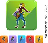 shopping woman | Shutterstock .eps vector #49612267