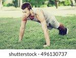 fitness  sport  exercising ... | Shutterstock . vector #496130737