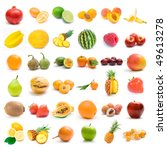 fruit collection | Shutterstock . vector #49613278
