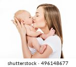 mother and baby playing and... | Shutterstock . vector #496148677