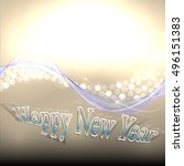 happy new year abstract... | Shutterstock .eps vector #496151383