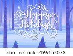 happy new year and merry... | Shutterstock .eps vector #496152073