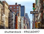 intersection of broadway and... | Shutterstock . vector #496160497