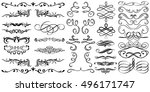 flourish and swirl vector.... | Shutterstock .eps vector #496171747