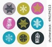 winter christmas print design | Shutterstock .eps vector #496194313