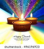 abstarct happy diwali background | Shutterstock .eps vector #496196923