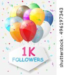 milestone 1000 followers.... | Shutterstock .eps vector #496197343