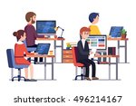 it or game development company... | Shutterstock .eps vector #496214167