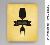 concept illustration of drink... | Shutterstock .eps vector #496218667