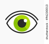 green eye logo symbol. vector...