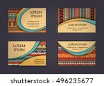 business card or visiting card... | Shutterstock .eps vector #496235677