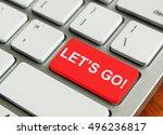 concept of modern keyboard.... | Shutterstock . vector #496236817
