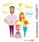 handisport. handicapped kids.... | Shutterstock .eps vector #496238977