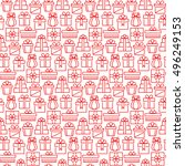 present seamless pattern in... | Shutterstock .eps vector #496249153