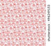 present seamless pattern in... | Shutterstock .eps vector #496249153