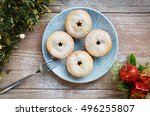 Blue Plate With Mince Pies ...