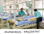 Blur Image Of Patient And Team...