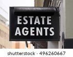 estate agents sign | Shutterstock . vector #496260667