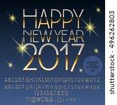 vector shiny happy new year... | Shutterstock .eps vector #496262803