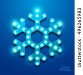 christmas background. retro... | Shutterstock .eps vector #496265983