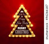 christmas background. retro... | Shutterstock .eps vector #496266187