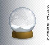 christmas transparent snowglobe.... | Shutterstock .eps vector #496268707