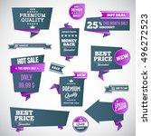 set of retro product... | Shutterstock .eps vector #496272523