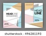 flyer template   usable for...   Shutterstock .eps vector #496281193