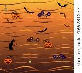 seamless vector background.... | Shutterstock .eps vector #496281277