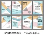 flyer template   usable for... | Shutterstock .eps vector #496281313