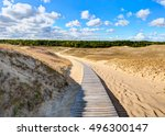 Wooden Path Into The Grey Dune...