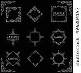 frames. decorative elements.... | Shutterstock .eps vector #496304197