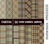 set tartan seamless pattern....   Shutterstock .eps vector #496310233