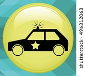 police car   Shutterstock .eps vector #496312063