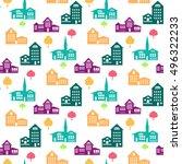 decorative seamless pattern... | Shutterstock .eps vector #496322233