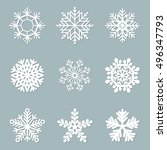 set of paper snowflakes | Shutterstock . vector #496347793