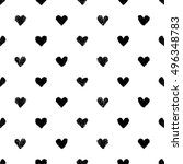 seamless pattern with hearts.... | Shutterstock .eps vector #496348783